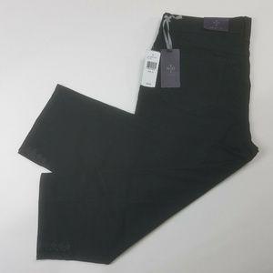 NYDJ Mid Rise Black Crop Stretch Jeans Size 10